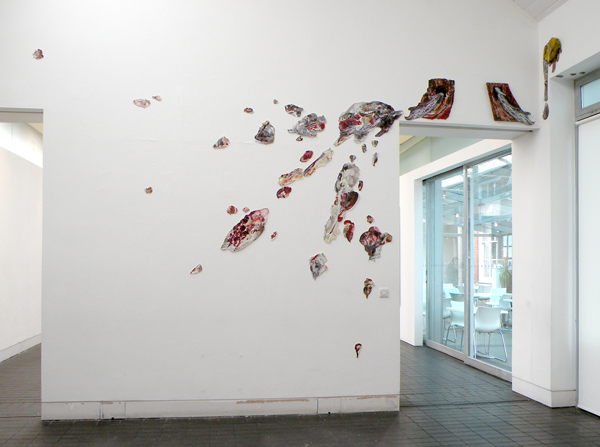 Spatter Platter | Installed in Jerwood Project Space | 2009 Acrylic on aluminium