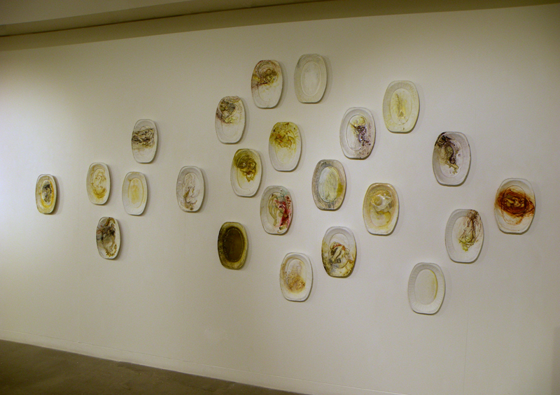 Better Out Than In Venus, 24 plates installed at Blyth Gallery, 2014